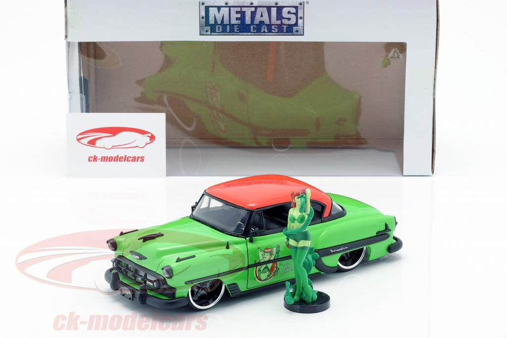 Chevy Bel Air Opførselsår 1953 med Poison Ivy DC Comics grøn / rød 1:24 Jada Toys