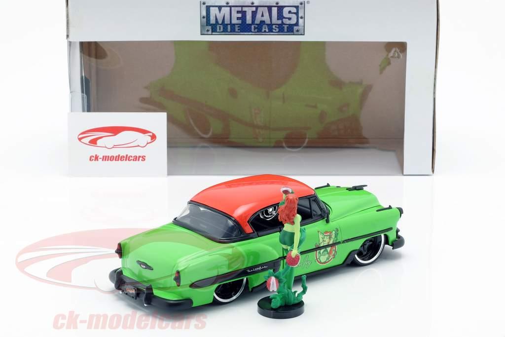 Chevy Bel Air année de construction 1953 avec Poison Ivy DC Comics vert / rouge 1:24 Jada Toys