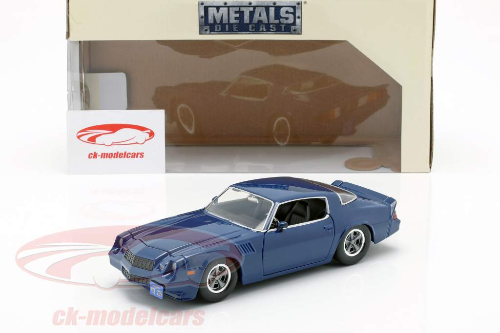Billy's Chevy Camaro Z28 with collector coin TV-Serie Stranger Things dark blue 1:24 Jada Toys