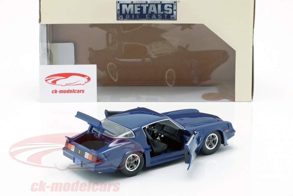 Billy's Chevy Camaro Z28 med solfanger mønt TV-Serie Stranger Ting mørkeblå 1:24 Jada Toys