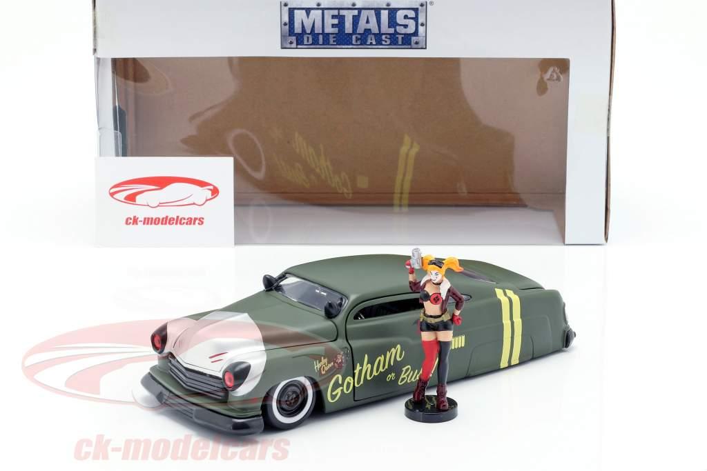 Mercury año de construcción 1951 con Harley Quinn DC Comics oliva verde / plata 1:24 Jada Toys