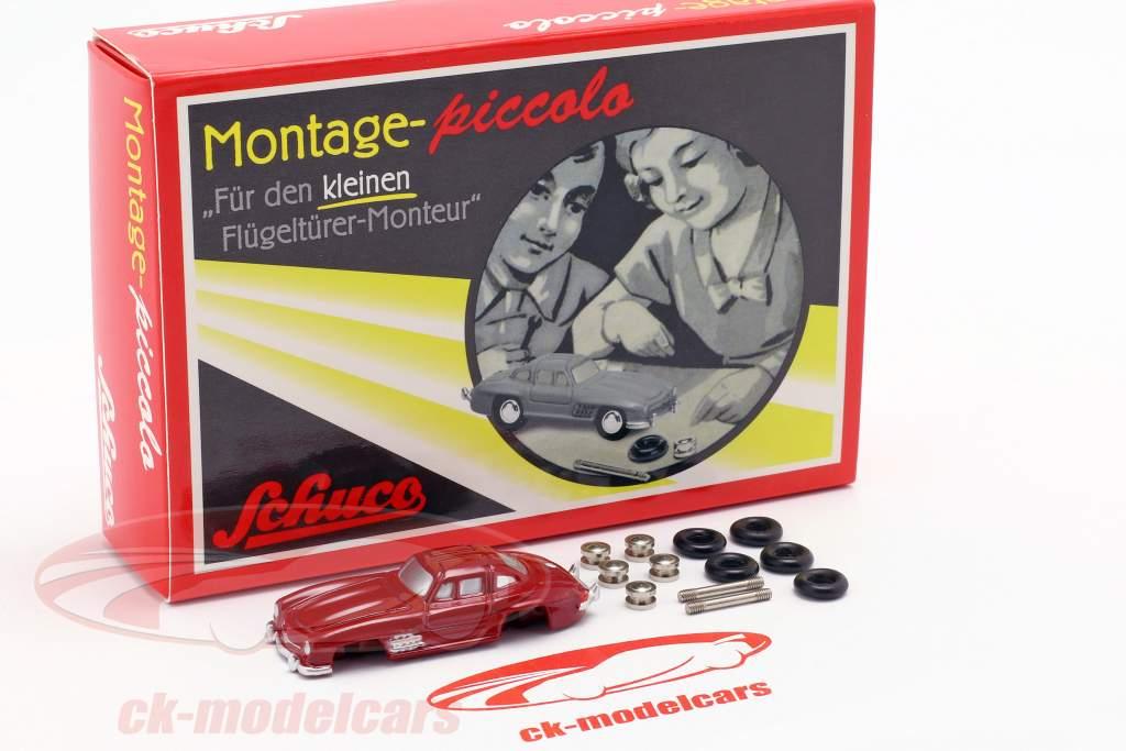 montage Piccolo Mercedes-Benz 300 SL rouge 1:90 Schuco Piccolo