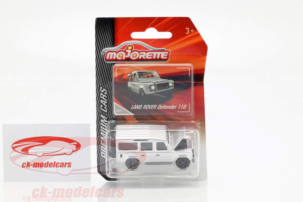 Land Rover Defender 110 prata 1:64 Majorette