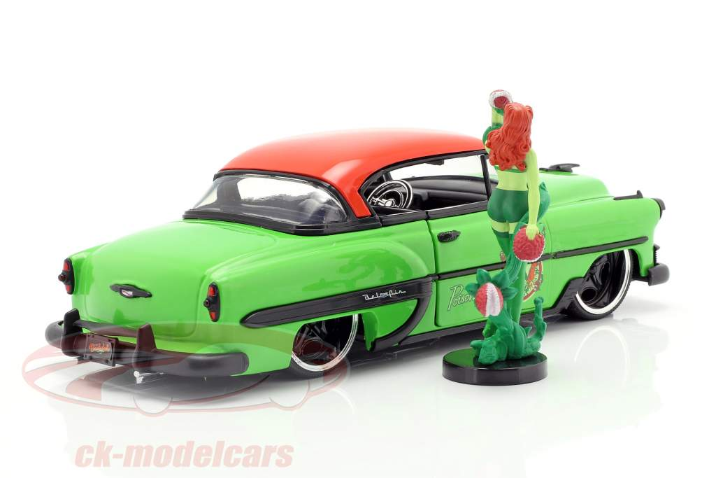 Chevy Bel Air year 1953 with Poison Ivy DC Comics green / red 1:24 Jada Toys