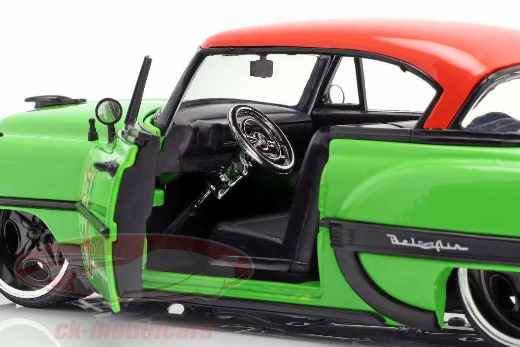 Chevy Bel Air año de construcción 1953 con Poison Ivy DC Comics verde / rojo 1:24 Jada Toys