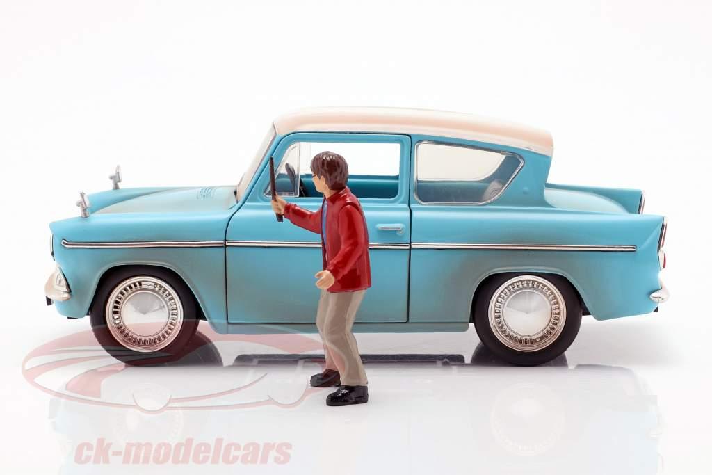 Ford Anglia Baujahr 1959 mit Harry Potter Figur hellblau 1:24 Jada Toys