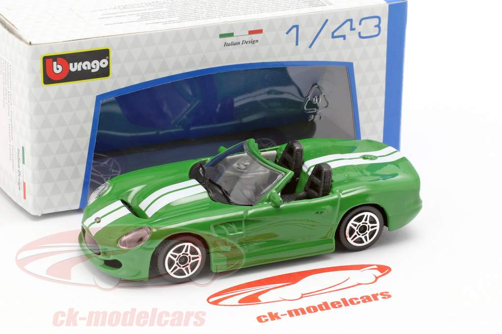Shelby Series One grøn metallisk / hvid 1:43 Bburago