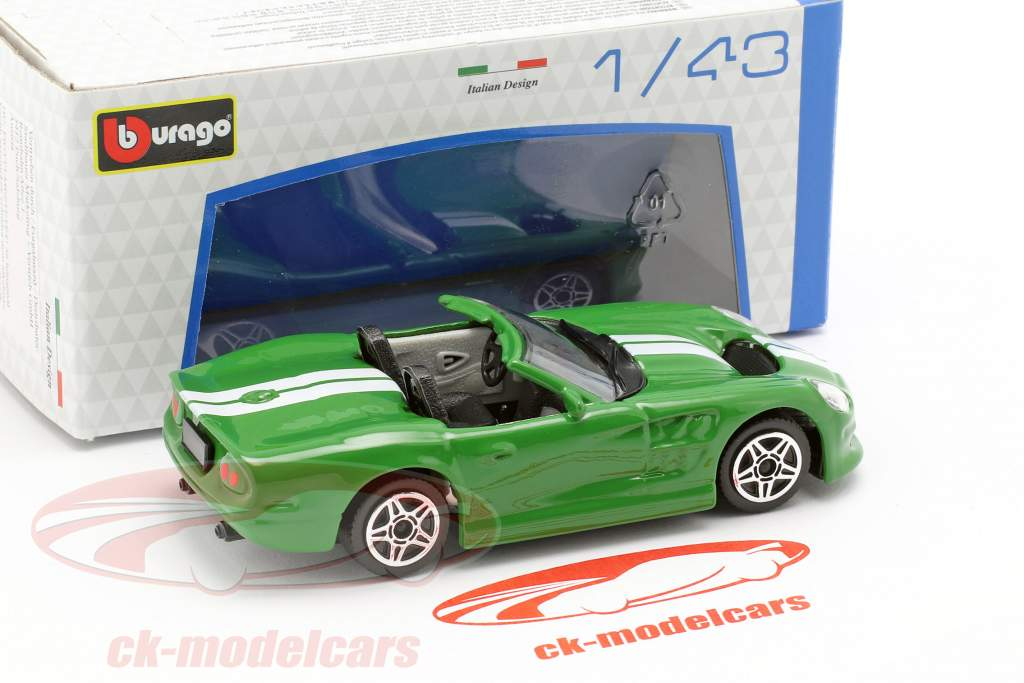 Shelby Series One verde metallico / bianco 1:43 Bburago
