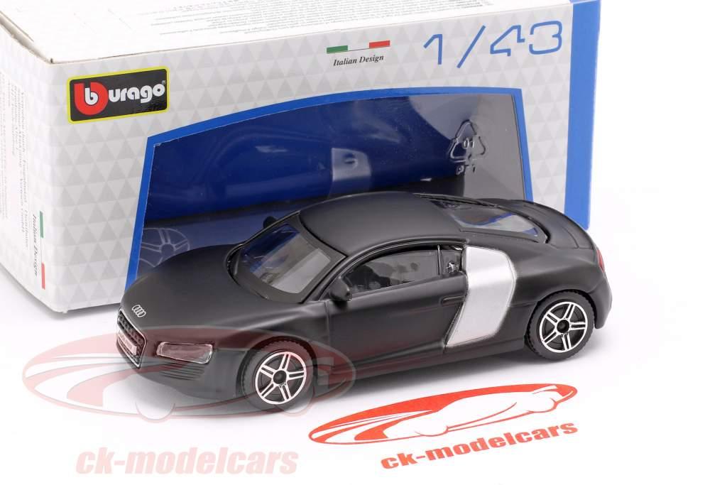 Audi R8 mat black / silver 1:43 Bburago