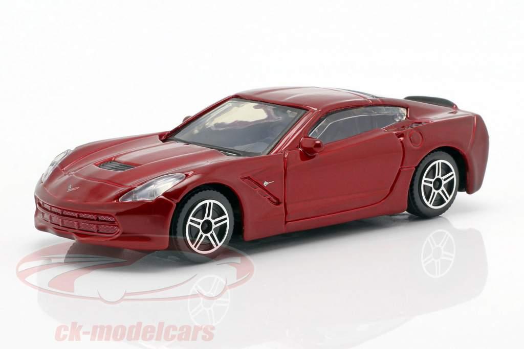 Corvette Stingray Bouwjaar 2014 purper metalen 1:43 Bburago