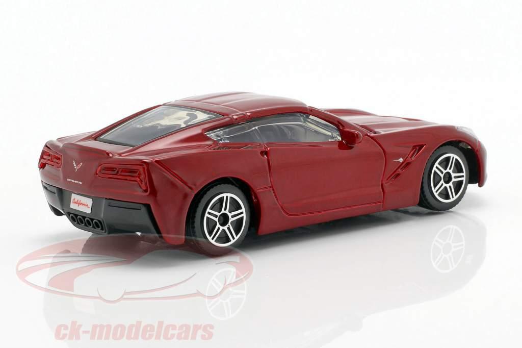 Corvette Stingray Baujahr 2014 dunkelrot metallic 1:43 Bburago