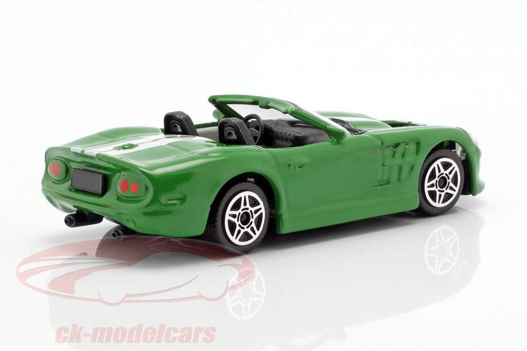 Shelby Series One verde metálico / blanco 1:43 Bburago