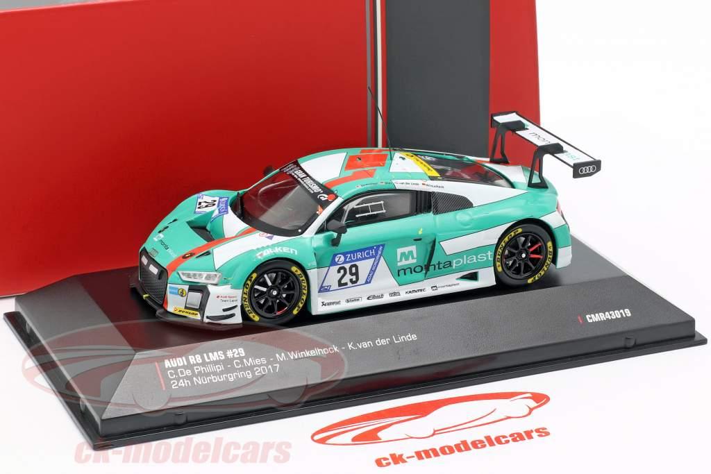 Audi R8 LMS #29 vencedor 24h Nürburgring 2017 Audi Sport Team Land 1:43 CMR