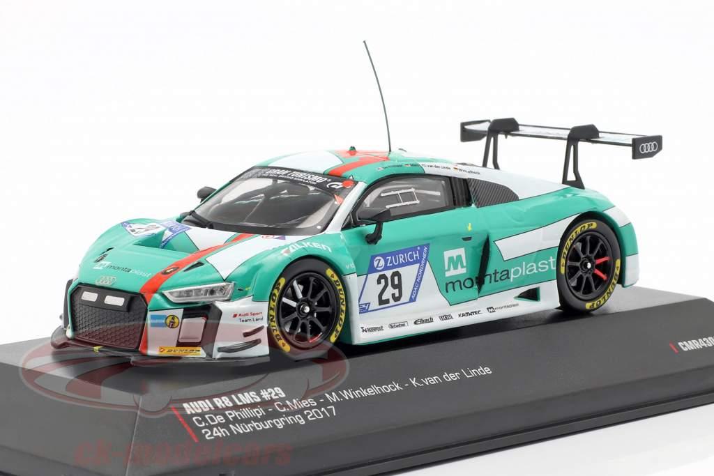 Audi R8 LMS #29 winnaar 24h Nürburgring 2017 Audi Sport Team Land 1:43 CMR