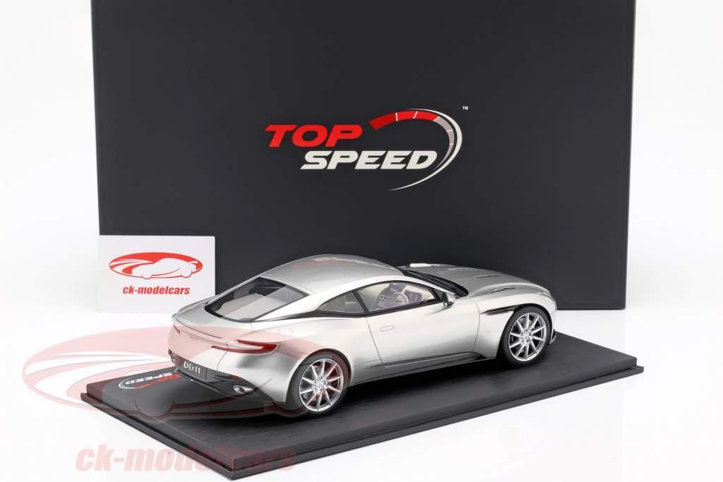 Aston Martin DB11 Coupe année de construction 2017 argent 1:18 TrueScale