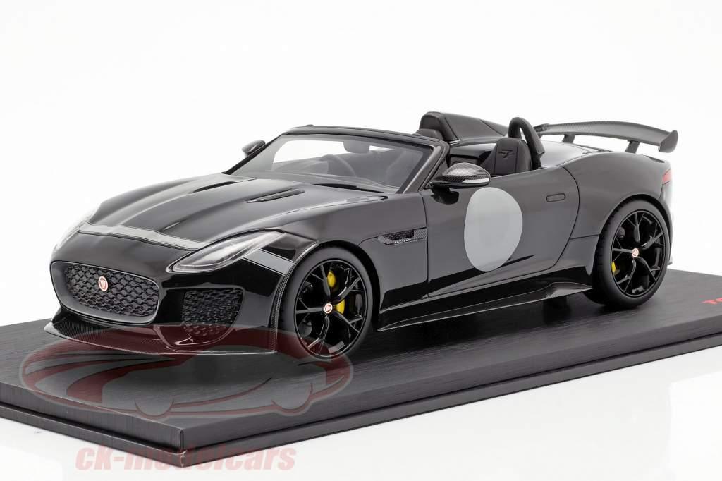 Jaguar F-Type Project 7 ano de construção 2015 preto 1:18 TrueScale