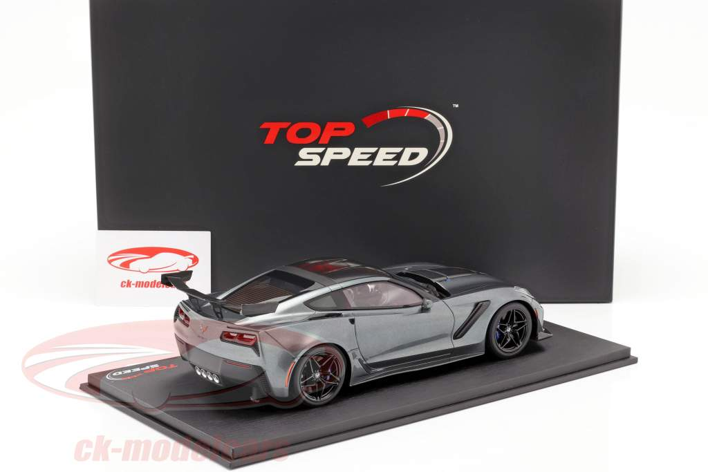 Chevrolet Corvette ZR-1 Baujahr 2018 shadow grau metallic 1:18 TrueScale
