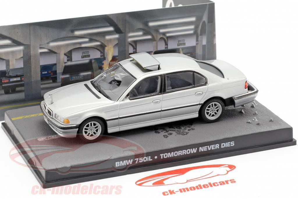 BMW 750iL carro de James Bond filme Amanhã Nunca Morre 1:43 Ixo cinza