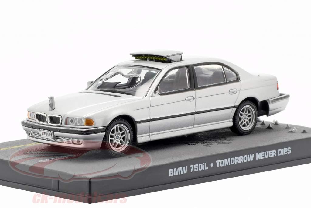 BMW 750iL bil James Bond film Tomorrow Never Dies 1:43 Ixo grå