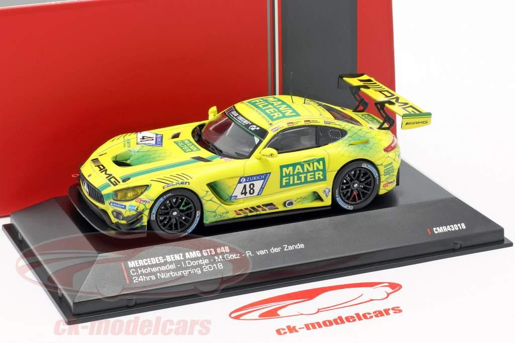 Mercedes-Benz AMG GT3 #48 24h Nürburgring 2018 Team Mann Filter 1:43 CMR
