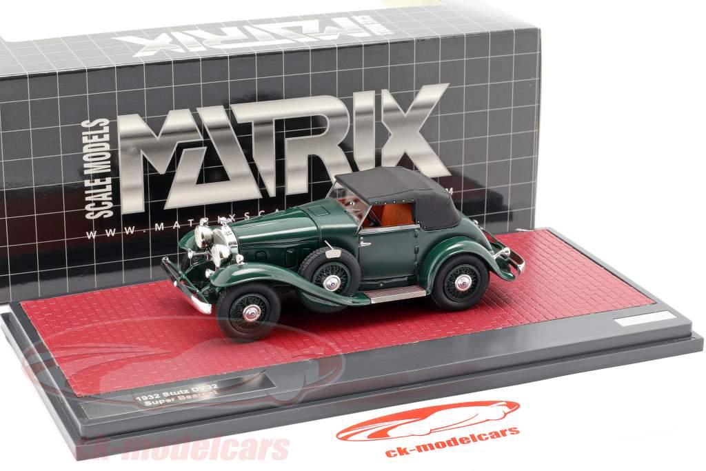 Stutz DV32 Super Bearcat chiuso anno di costruzione 1932 verde scuro 1:43 Matrix