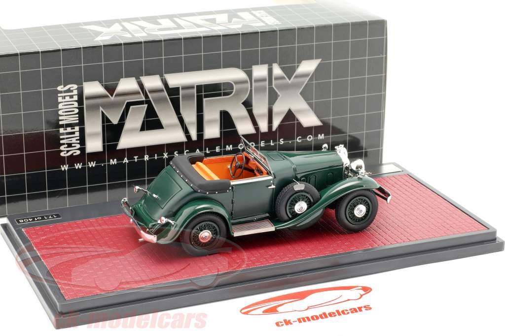 Stutz DV32 Super Bearcat åbent Opførselsår 1932 mørkegrøn 1:43 Matrix