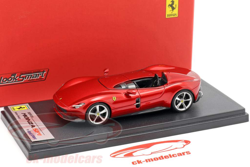 Ferrari Monza SP1 presentación salón París 2018 rojo metálico 1:43 LookSmart