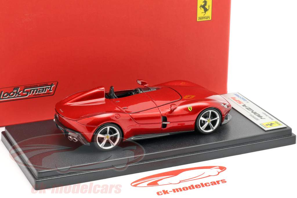 Ferrari Monza SP1 Presentation salon Paris 2018 red metallic 1:43 LookSmart