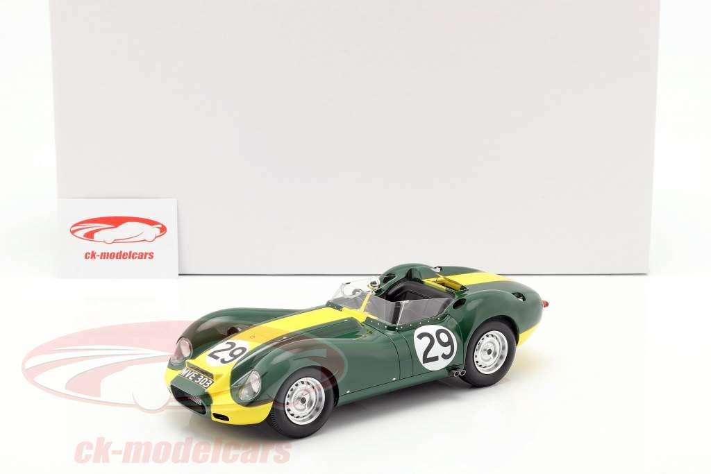 Jaguar Lister #29 ganador Daily Express Sports Car Race Silverstone 1958 Moss 1:18 Matrix