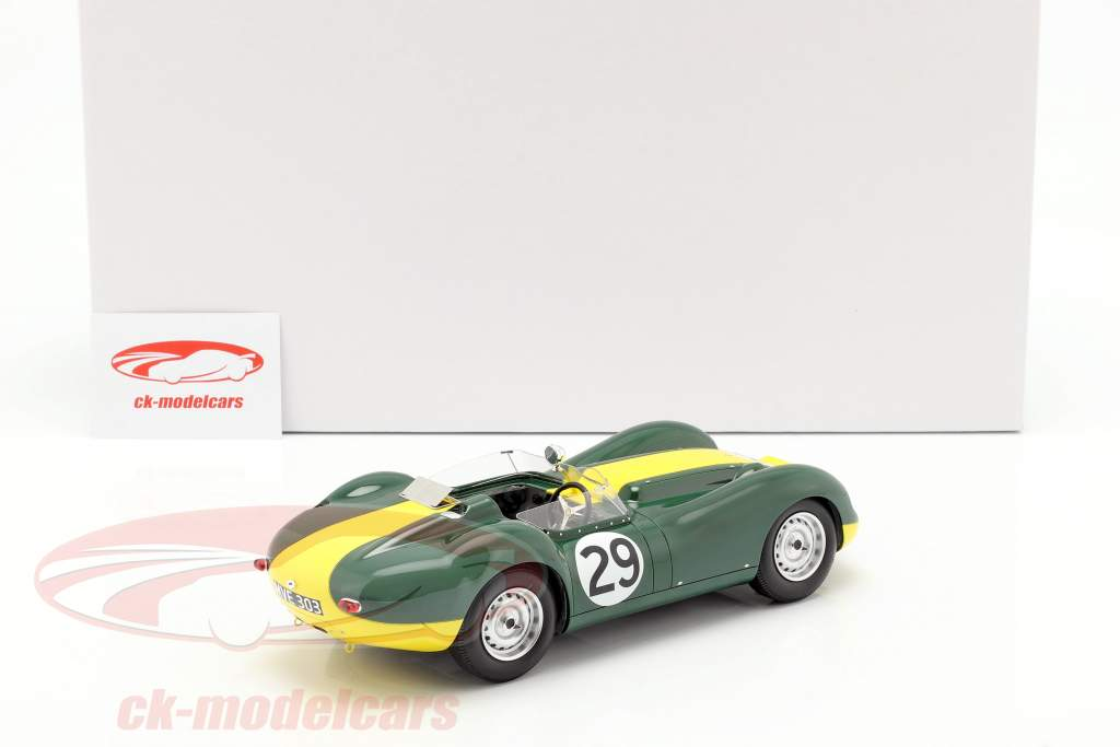 Jaguar Lister #29 vencedor Daily Express Sports Car Race Silverstone 1958 Moss 1:18 Matrix