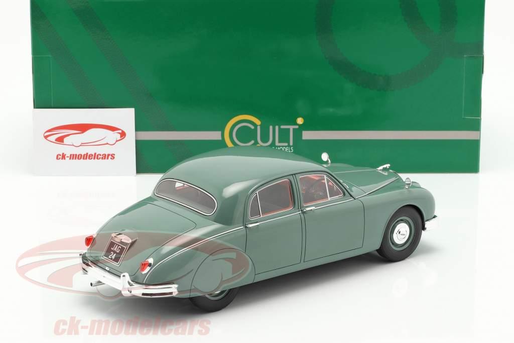 Jaguar 2.4 MKI Opførselsår 1955 grøn 1:18 Cult Scale