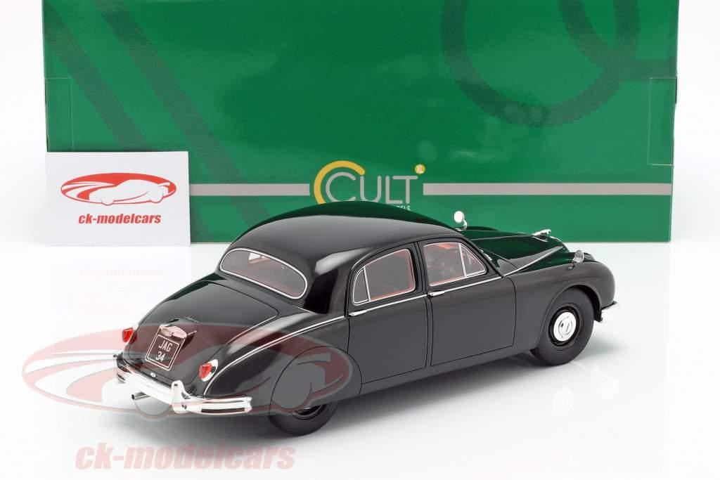 Jaguar 2.4 MKI Opførselsår 1955 sort 1:18 Cult Scale