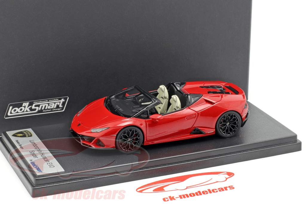 Lamborghini Huracan Evo Spyder rojo 1:43 LookSmart