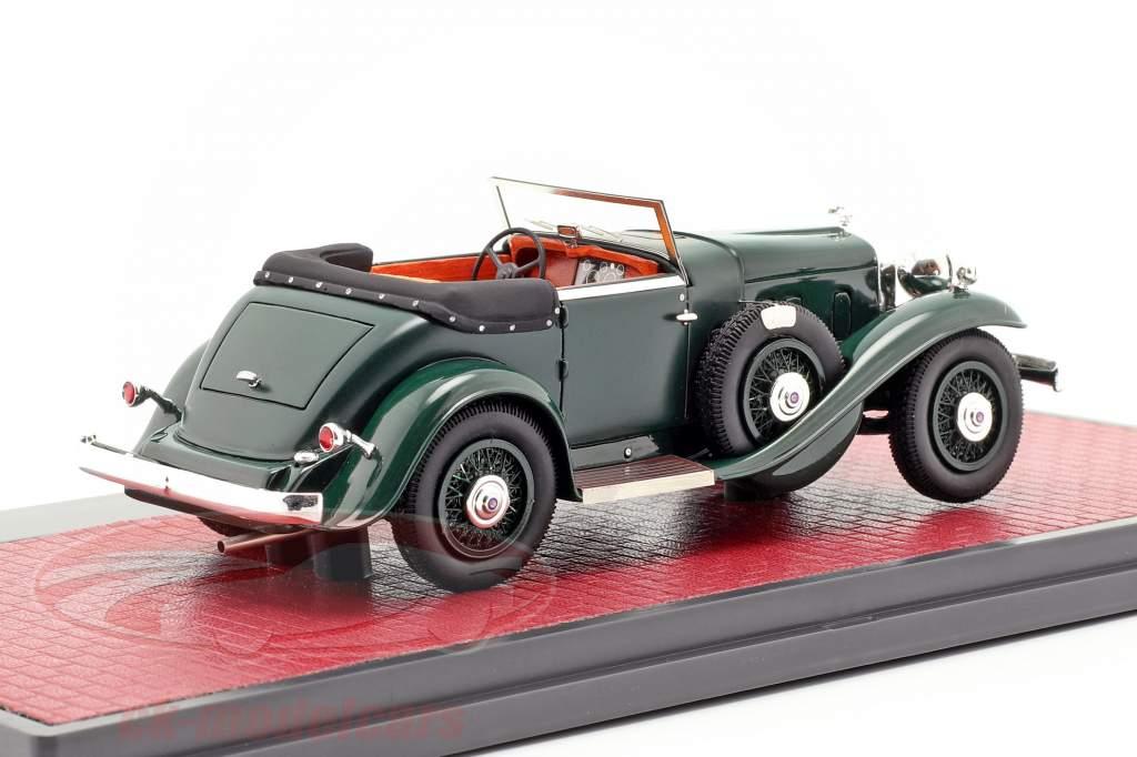 Stutz DV32 Super Bearcat aperto anno di costruzione 1932 verde scuro 1:43 Matrix
