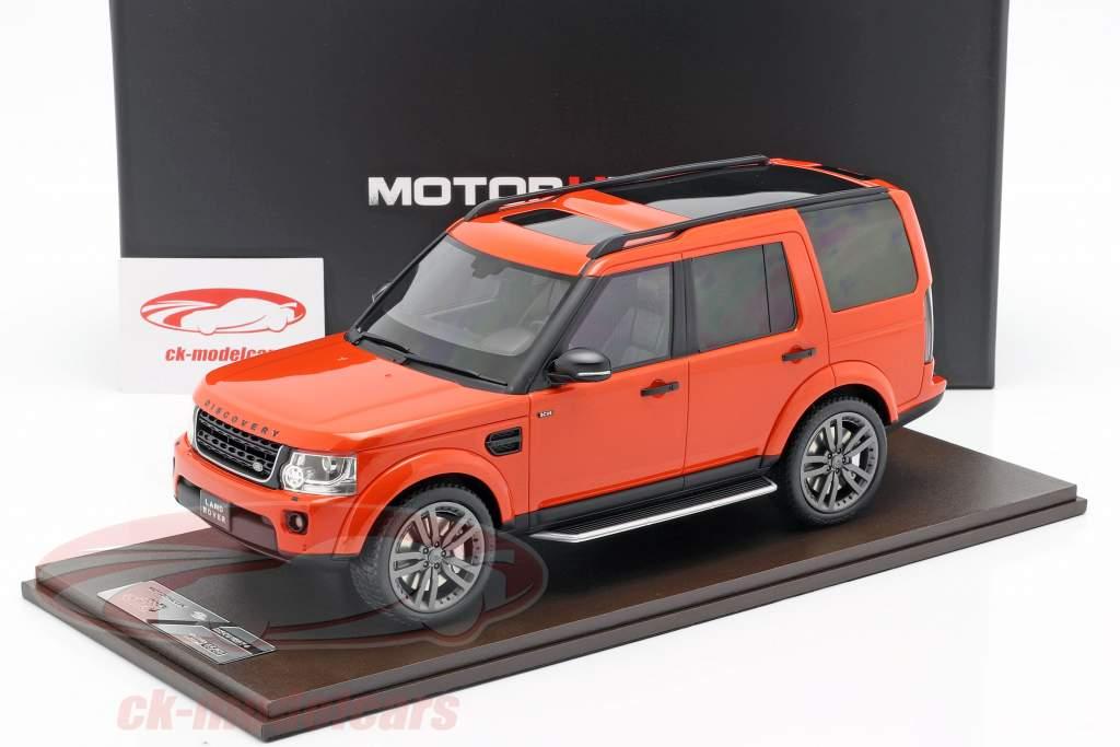 Land Rover Discovery IV année de construction 2016 orange 1:18 MotorHelix