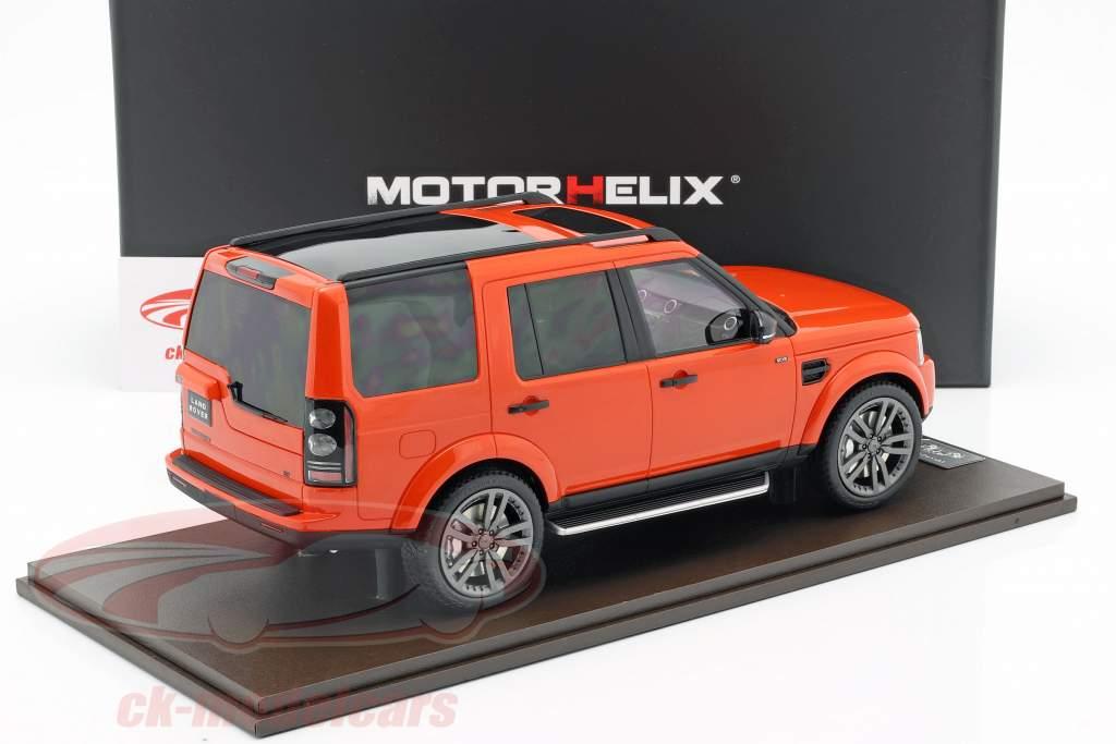 Land Rover Discovery IV año de construcción 2016 naranja 1:18 MotorHelix