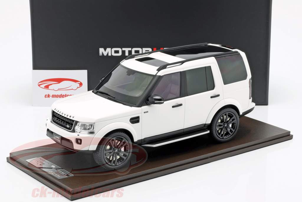Land Rover Discovery IV année de construction 2016 blanc 1:18 MotorHelix