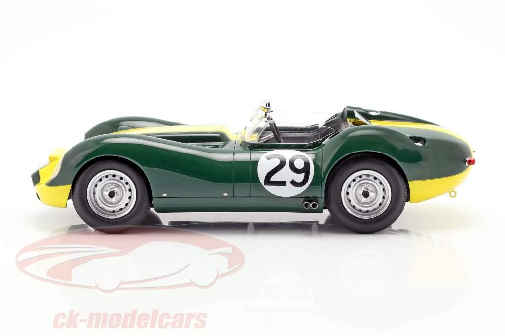 Jaguar Lister #29 Vinder Daily Express Sports Car Race Silverstone 1958 Moss 1:18 Matrix