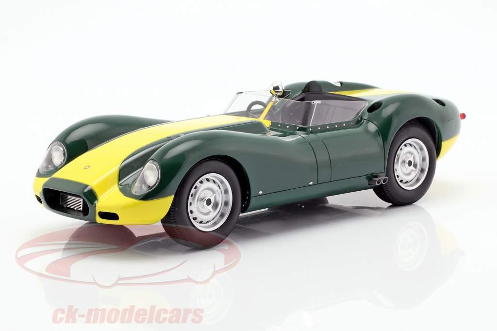 Jaguar Lister año de construcción 1958 verde / amarillo 1:18 Matrix
