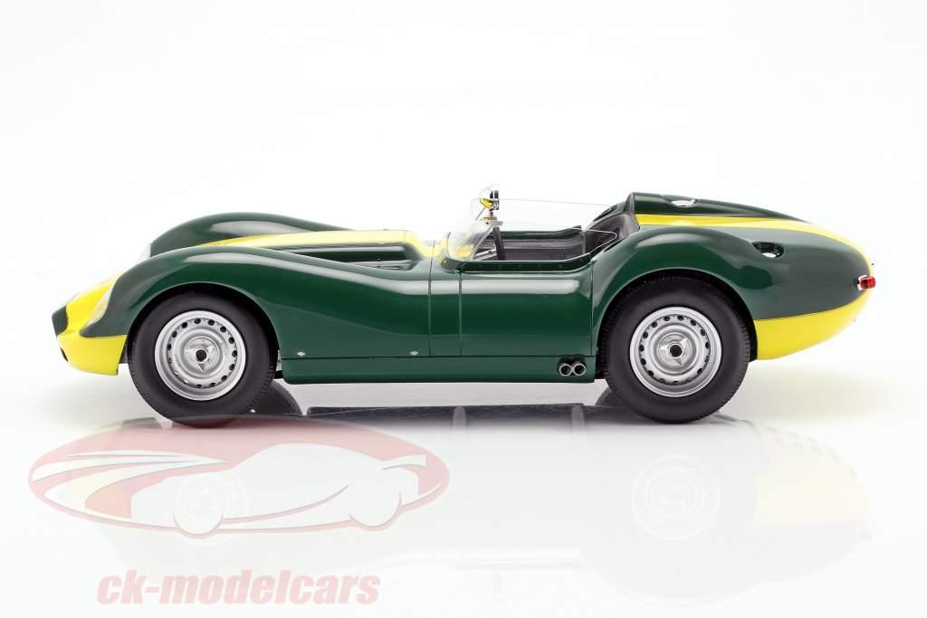 Jaguar Lister anno di costruzione 1958 verde / giallo 1:18 Matrix
