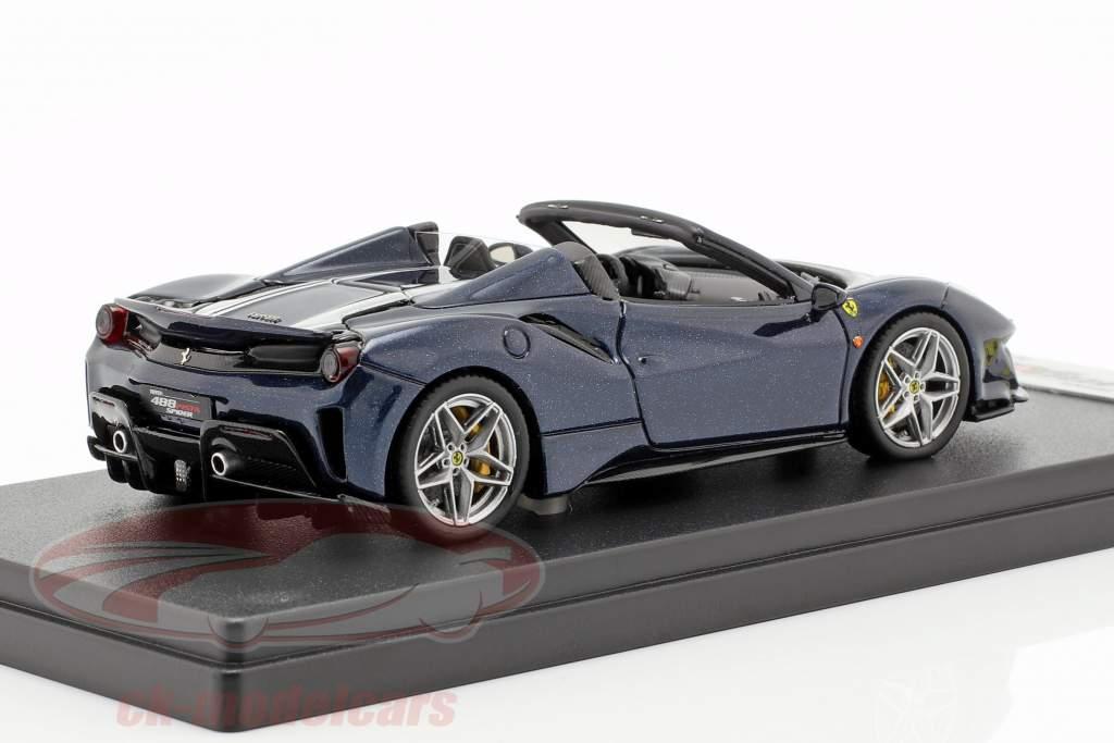 Ferrari 488 Pista Spyder dunkelblau metallic 1:43 LookSmart