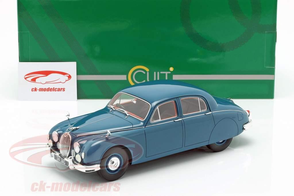 Jaguar 2.4 MKI Baujahr 1955 blau 1:18 Cult Scale