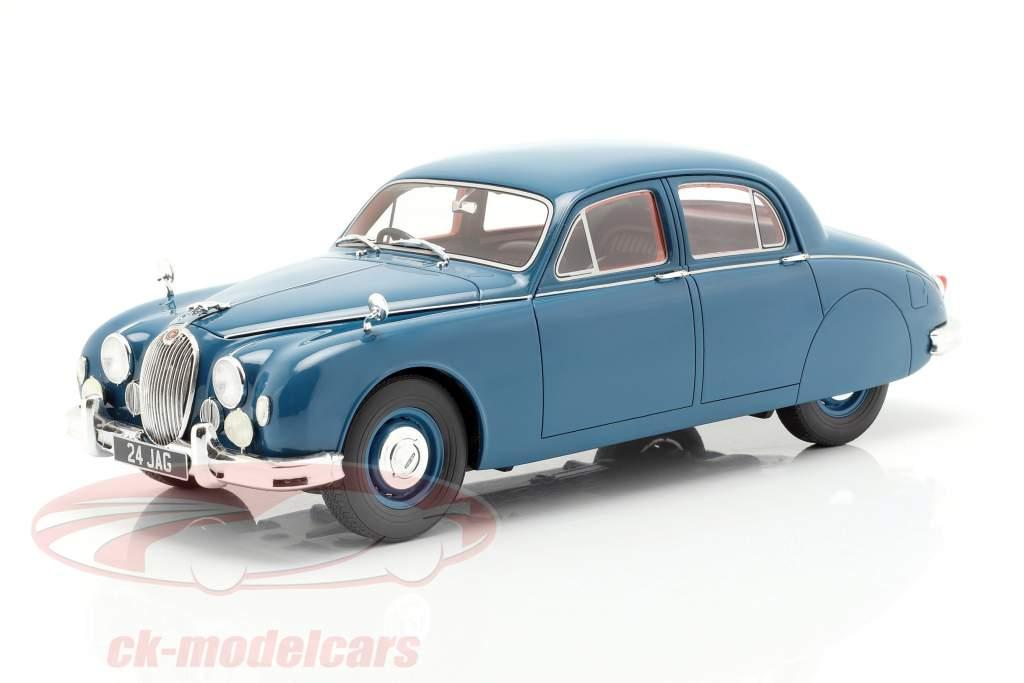 Jaguar 2.4 MKI Opførselsår 1955 blå 1:18 Cult Scale