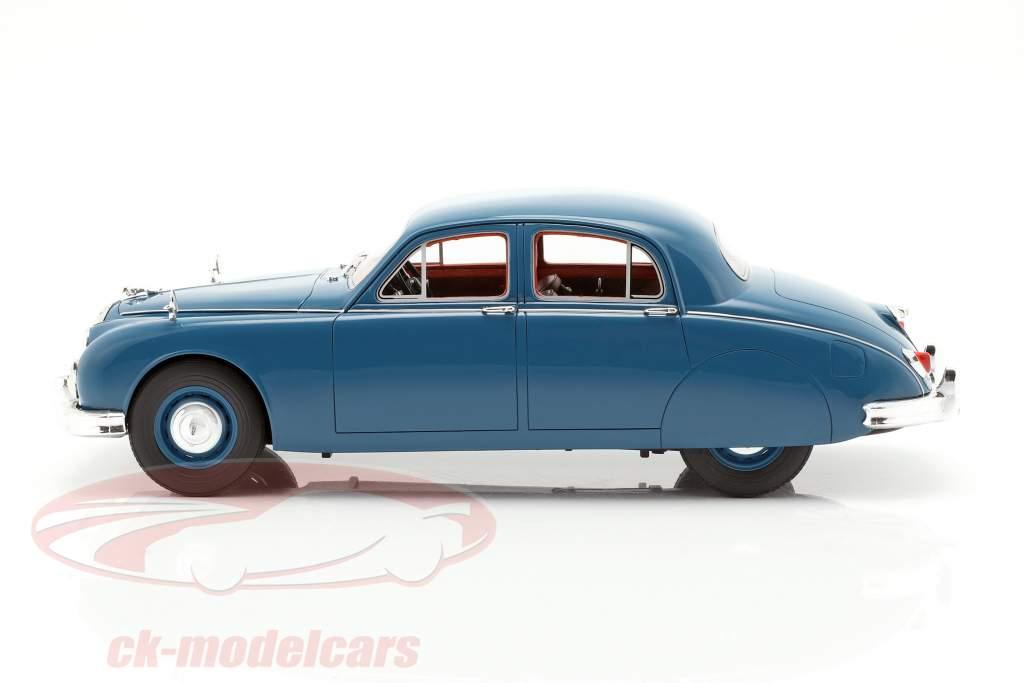 Jaguar 2.4 MKI Bouwjaar 1955 blauw 1:18 Cult Scale