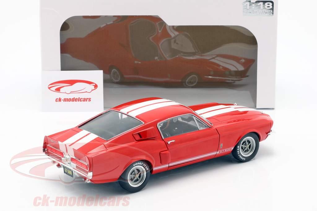 Shelby Mustang GT 500 ano de construção 1967 vermelho 1:18 Solido