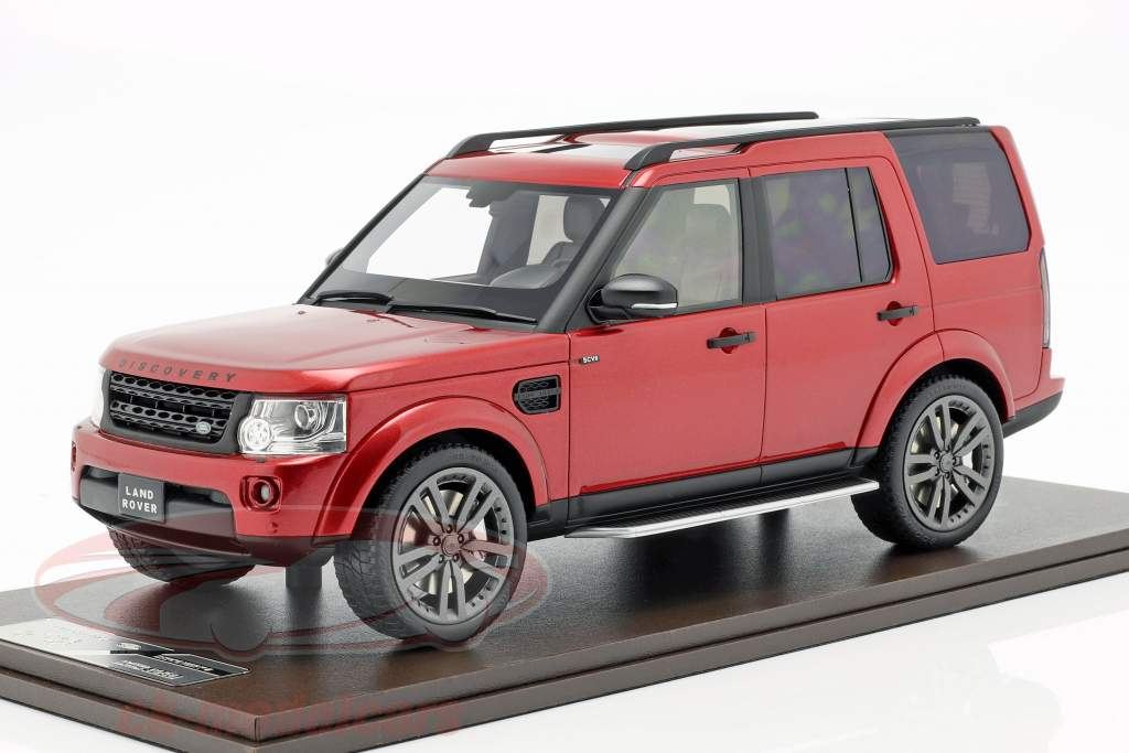 Land Rover Discovery IV Bouwjaar 2016 rood 1:18 MotorHelix