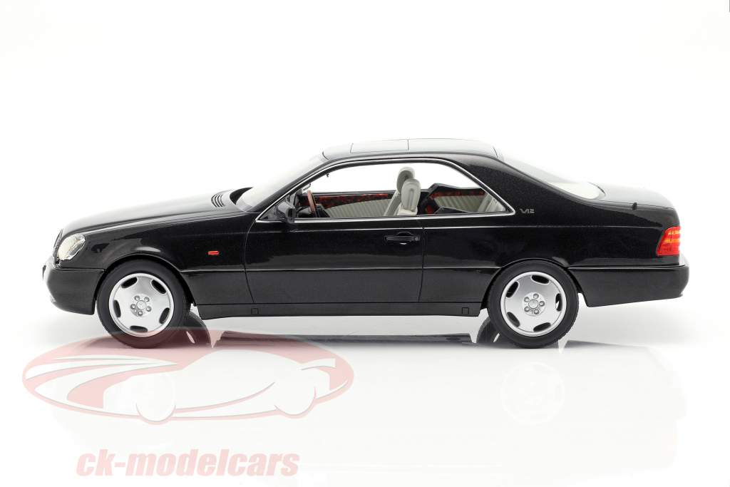 Mercedes-Benz 600 SEC C140 Opførselsår 1992 sort 1:18 Cult Scale