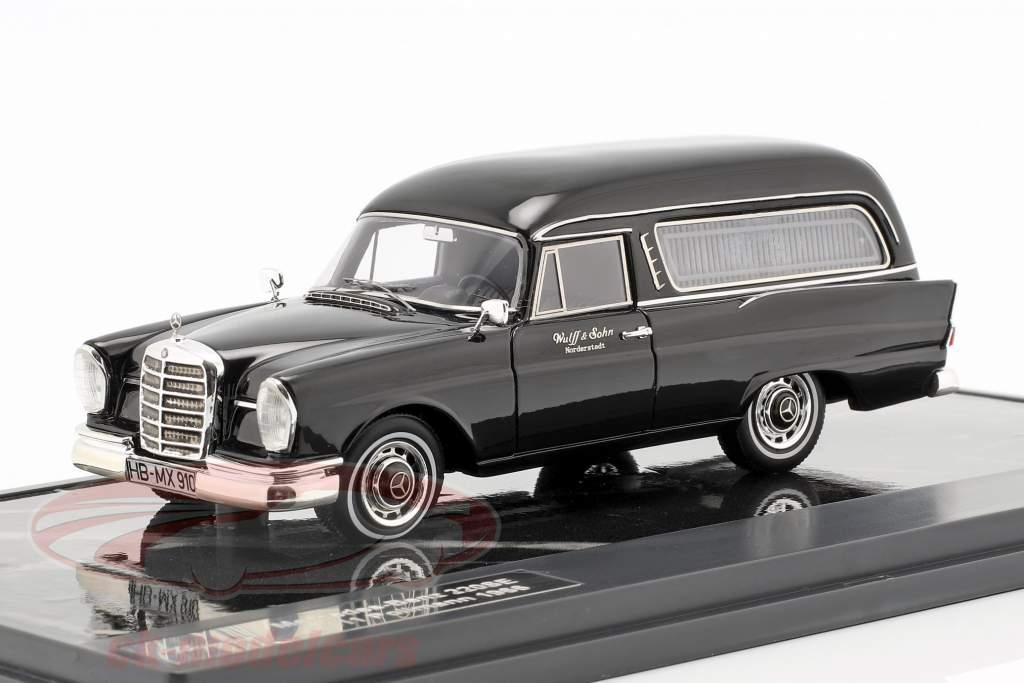 Mercedes-Benz 220SE (W111) Pollmann Hearse année de construction 1966 noir 1:43 Matrix