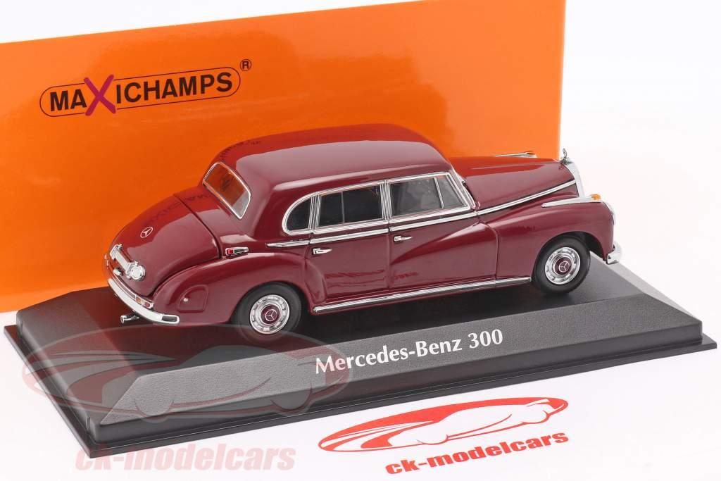 Mercedes-Benz 300 (W186) anno di costruzione 1951 porpora 1:43 Minichamps