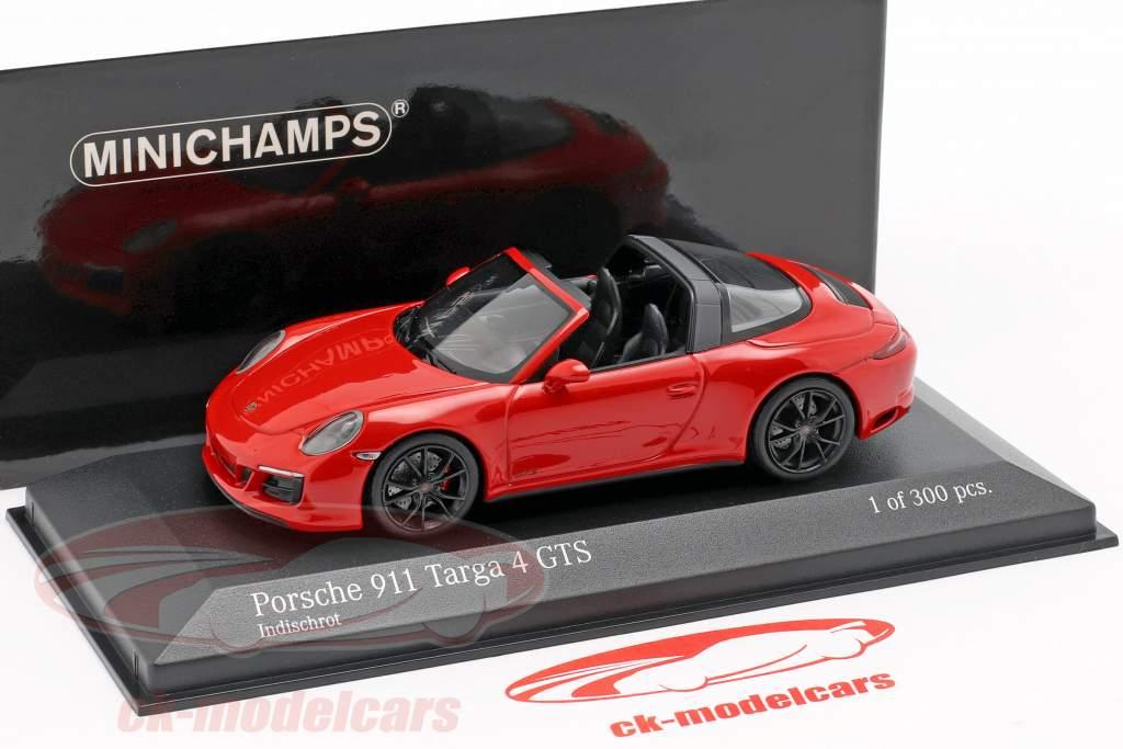 Porsche 911 (991.2) Targa 4 GTS ano de construção 2016 vermelho 1:43 Minichamps